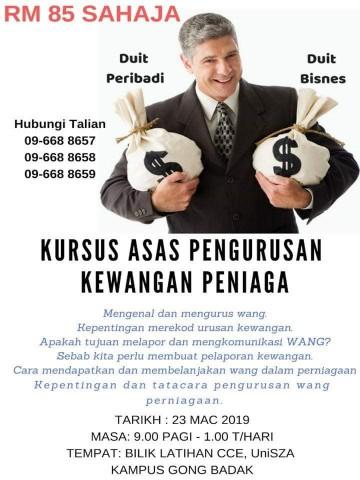 kursus asas pengurusan kewangan peniaga